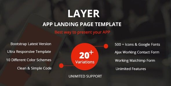 layer Landing Page