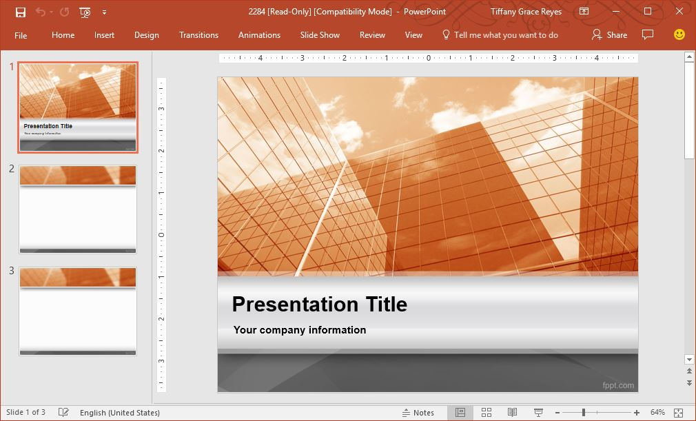 Fppt free powerpoint templates tech with geeks building ppt template toneelgroepblik Image collections