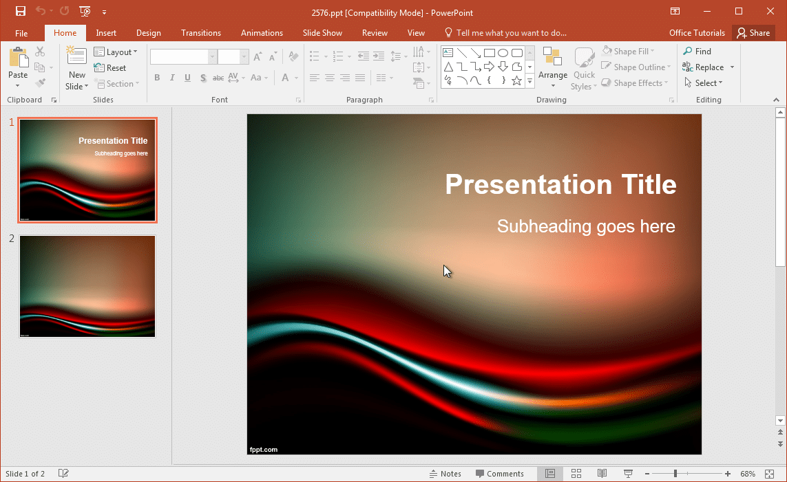 Black & Red PPT Template