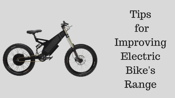 Tips for Improving Electric Bike's Range