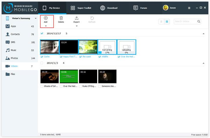 Add your MOV Files