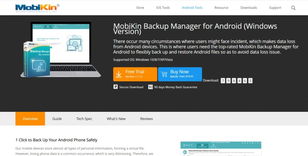 Mobikin backup manager
