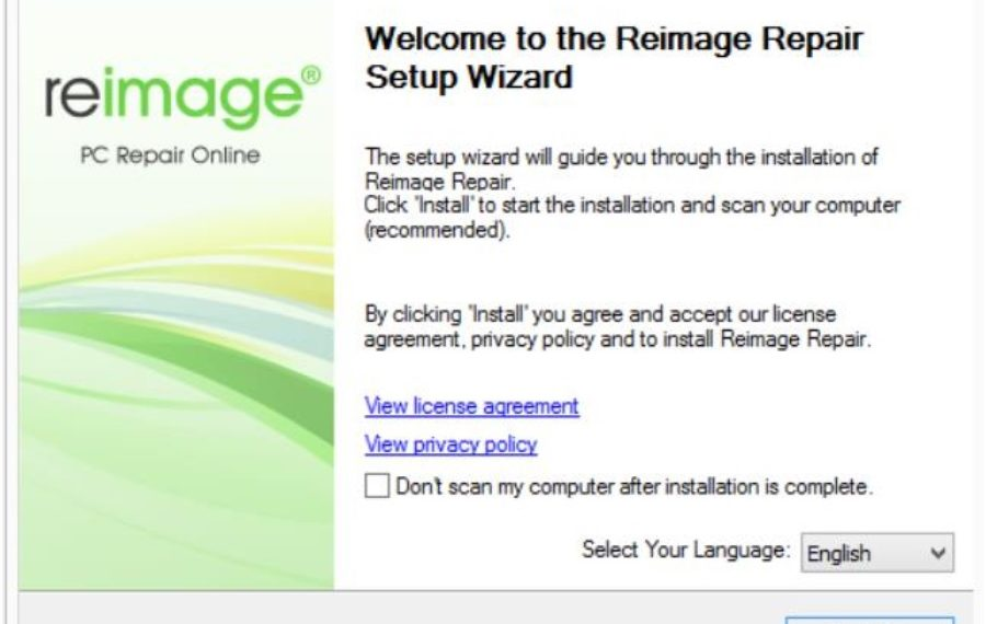 Reimage Repair Setup Wizard
