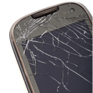 cracked phone screens