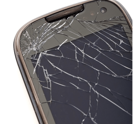 cracked phone screens
