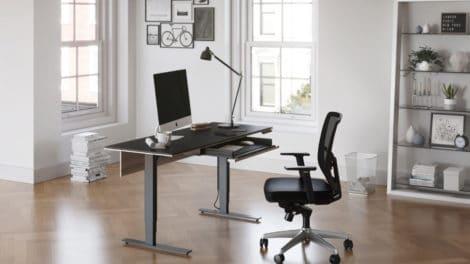 standing desk height chart